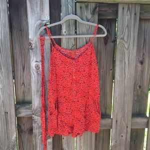Summer romper with pockets